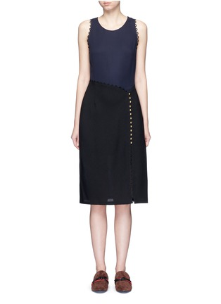3.1 Phillip Lim - Loop trim mock wrap dress