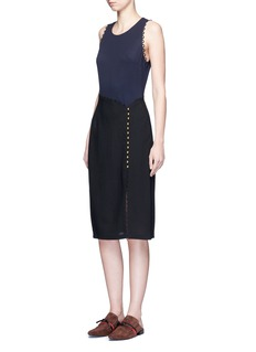 3.1 Phillip Lim Loop trim mock wrap dress