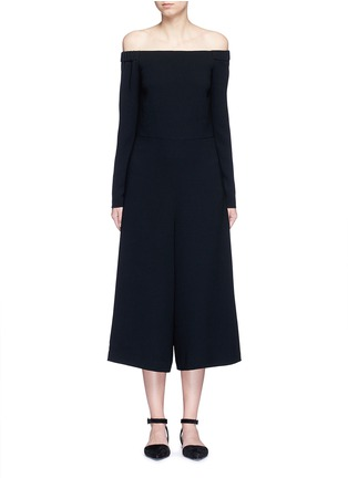 Main View - Click To Enlarge - Tibi - Off-shoulder crepe culotte jumpsuit