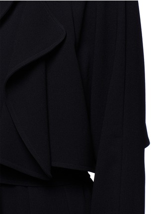 Detail View - Click To Enlarge - Tibi - Soft crepe belted trench coat