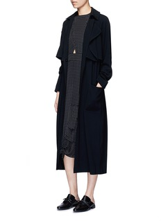 TIBI Soft crepe belted trench coat