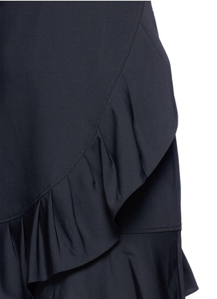 Detail View - Click To Enlarge - Tibi - Pleated ruffle tropical wool dress