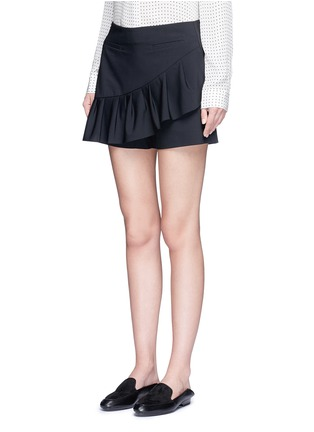 Front View - Click To Enlarge - Tibi - Tropical wool pleated skort
