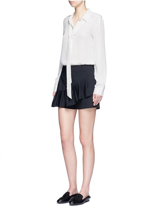 Figure View - Click To Enlarge - Tibi - Tropical wool pleated skort