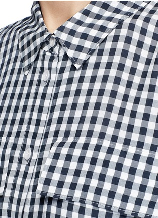 Detail View - Click To Enlarge - Tibi - Gingham check print button utility blouse