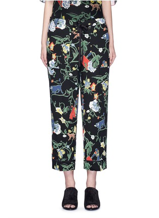 Main View - Click To Enlarge - Tibi - 'Seville' floral print pyjama pants