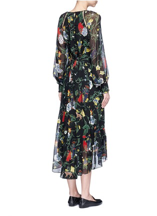 Back View - Click To Enlarge - Tibi - 'Josephina' floral print silk chiffon dress