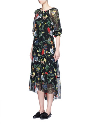 Figure View - Click To Enlarge - Tibi - 'Josephina' floral print silk chiffon dress