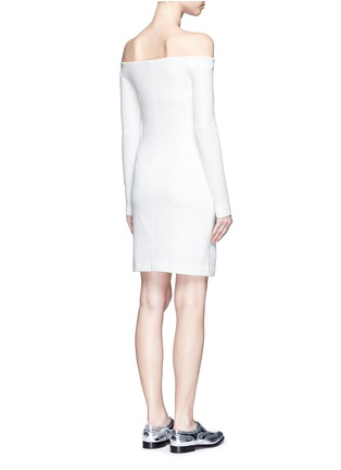 Back View - Click To Enlarge - Tibi - Textured off-shoulder dress