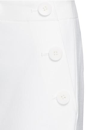 细节 - 点击放大 - TIBI - ANSON钮扣装饰绉绸阔腿裤