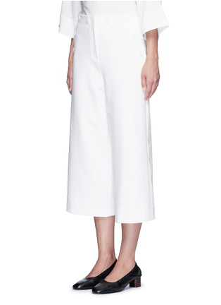 Front View - Click To Enlarge - Tibi - 'Anson' cropped wide leg sailor pants
