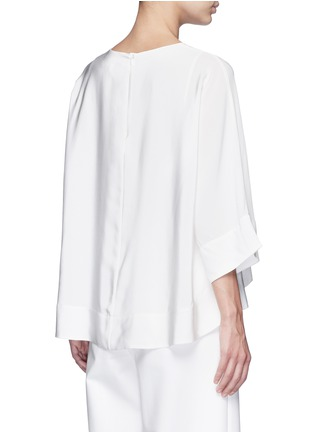 Back View - Click To Enlarge - Tibi - Dolman sleeve sheer V-neck silk top