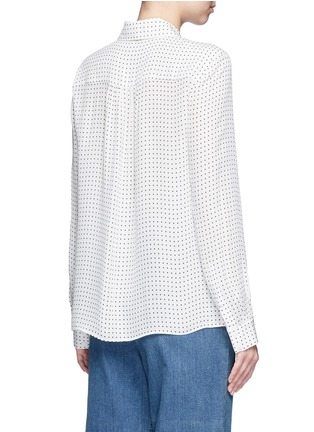 Back View - Click To Enlarge - Tibi - 'Estrella' star print silk georgette blouse