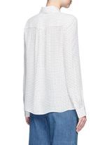 'Estrella' star print silk georgette blouse
