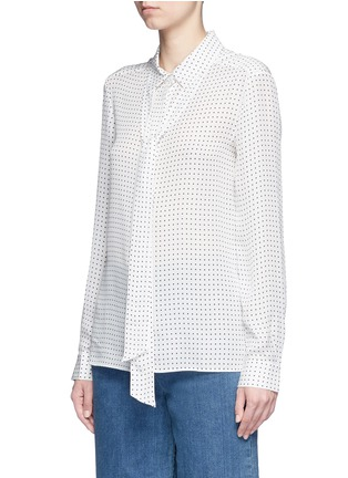 Front View - Click To Enlarge - Tibi - 'Estrella' star print silk georgette blouse