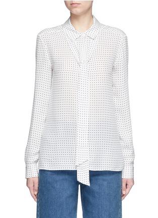 首图 - 点击放大 - TIBI - 领带装饰星形印花真丝衬衫