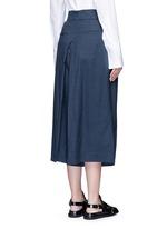 Inverted pleat cotton twill culottes