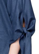 'Sophia' tie cuff twill top