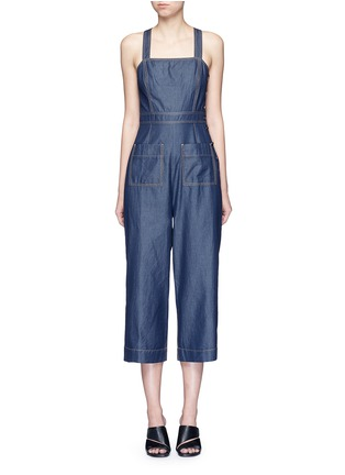 Main View - Click To Enlarge - Tibi - 'Neo' washed cotton twill overalls