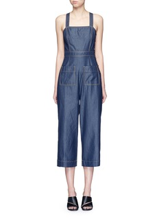 Tibi 'Neo' washed cotton twill overalls