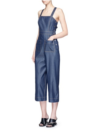 Figure View - Click To Enlarge - Tibi - 'Neo' washed cotton twill overalls