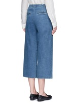 Cropped wide leg denim sailor pants