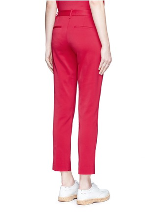 Back View - Click To Enlarge - Tibi - Stretch faille cropped pants