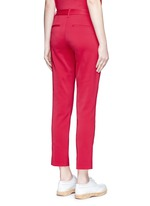 Stretch faille cropped pants