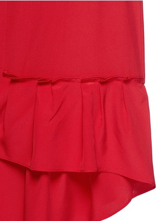 Detail View - Click To Enlarge - Tibi - Asymmetric ruffled silk midi skirt