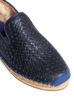 'Sandrinne' metallic basketweave leather espadrille slip-ons