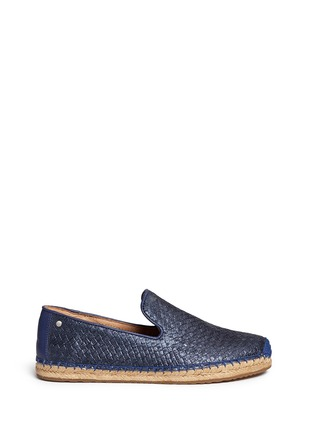 Ugg Australia - 'Sandrinne' metallic basketweave leather espadrille slip-ons