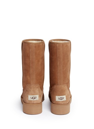 Back View - Click To Enlarge - Ugg Australia - 'Amie' twinface sheepskin wedge boots