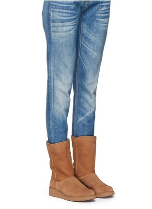 Figure View - Click To Enlarge - Ugg Australia - 'Amie' twinface sheepskin wedge boots