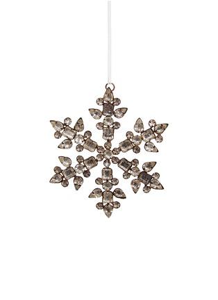 Main View - Click To Enlarge - Shishi As - Bead snowflake Christmas ornament