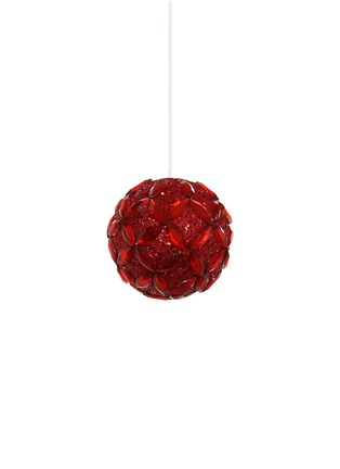 Main View - Click To Enlarge - Shishi As - Floral bead glitter Christmas ornament