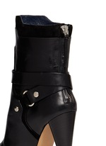 'Redford' harness leather combo ankle boots