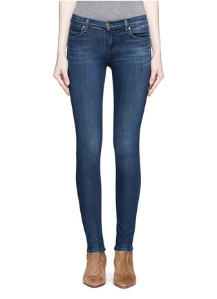 Detail View - Click To Enlarge - J Brand - 'Super Skinny' whiskered jeans