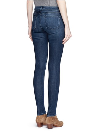 Back View - Click To Enlarge - J Brand - 'Super Skinny' whiskered jeans