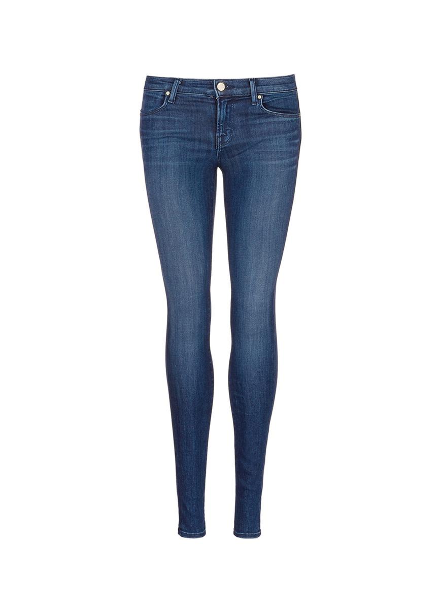 Super Skinny whiskered jeans by J Brand