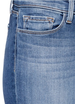 Detail View - Click To Enlarge - J Brand - 'Skinny Leg' whiskered jeans