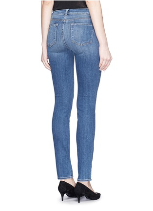 Back View - Click To Enlarge - J Brand - 'Skinny Leg' whiskered jeans