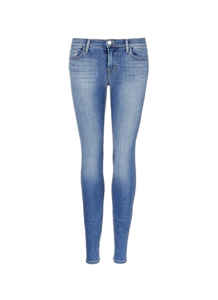 Main View - Click To Enlarge - J Brand - 'Skinny Leg' whiskered jeans