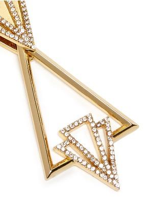Detail View - Click To Enlarge - Lulu Frost - 'Portico' glass pavé free swing geometric earrings