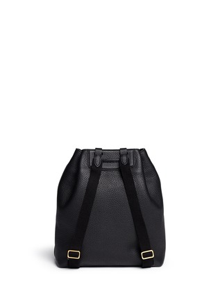 Back View - Click To Enlarge - The Row - Grainy leather drawstring bucket backpack
