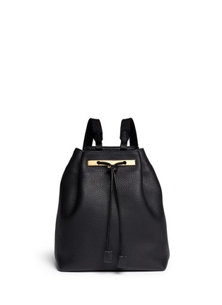 Main View - Click To Enlarge - The Row - Grainy leather drawstring bucket backpack