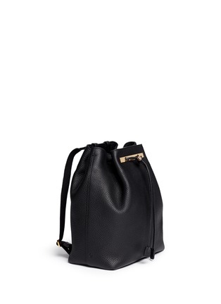 Figure View - Click To Enlarge - The Row - Grainy leather drawstring bucket backpack