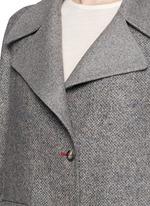 'Sonja' virgin wool-silk tweed coat