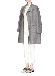 THE ROW 'Sonja' virgin wool-silk tweed coat