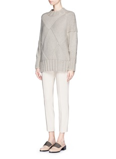 The Row'Chandra' seam front stretch scuba cropped pants