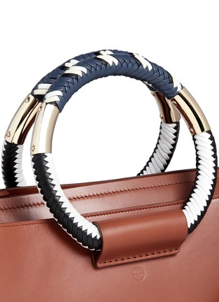 Detail View - Click To Enlarge - The Row - Classic' braided ring handle leather box bag